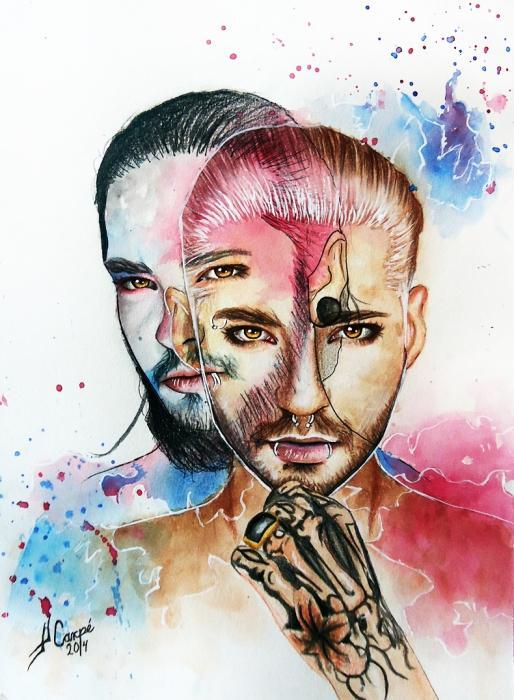 Bill Kaulitz, Tom Kaulitz by Twincestoxa